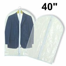 """Hangerworld™ 6 Clear 40"""" Showerproof Suit Covers Garment Clothes Protector Bags"""