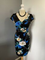 Women's Size 10 Gorgeous 💙 Dorothy Perkins Sleeveless Floral Pattern Dress