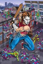 TMNT 13x19 Casey Jones TEENAGE MUTANT NINJA TURTLES print poster cartoon fan art
