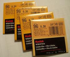 Kodak wratten GELATINA Filtro NO 96 0.30 7.6cm OR 75mm Cuadrado