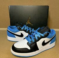 Nike Air Jordan 1 Low SE (GS) Size 5.5Y [CT1564-004] Black/Laser Blue