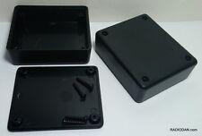 2 Pcs Usa Black Plastic Electronic Project Box Enclosure Case 3 X 25 X 1 In