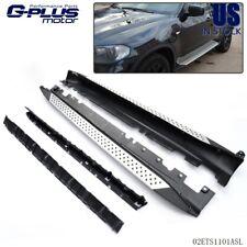 For 2007-2013 BMW X5 E70 Aluminum Running Board Side Steps Rail Kit Silver/Black