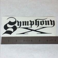 SYMPHONY X Vinyl DECAL STICKER BLK/WHT/RED Heavy Power Metal BAND Logo Window LP