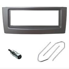 Mascherina kit supporto autoradio 1 DIN (ISO) sola FIAT Grande Punto grigia GRAY