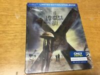 The Longest Day 1962(Blu-ray+DVD/Digital)Steelbook-NEW-Free S&H with Tracking