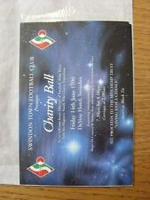 14/06/1996 Ticket: At Devere Hotel, Swindon Town Presents A Charity Ball