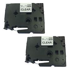 2 Compatible Brother Tz131 Para P-touch Pt1000 pt1000bm pt1010b pt1005 Etiqueta Cinta