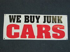 WE BUY JUNK CARS BANNER Sign High Quality NEW