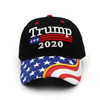 President Donald Trump 2020 USA Flag Hat Make America Great Baseball Cap-RO