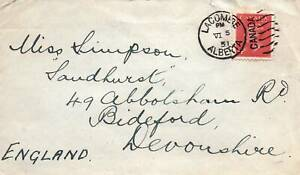 CANADA SCOTT 287 ON COMMERCIAL PERSONAL MAIL FROM LACOMBE ALBERTA TO UK 1951