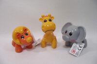 Lot de 3 animaux TIKI TOYS Jouets petit enfant (+12 mois) Girafes/Lion/Elephant