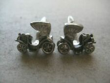 Decorated Cufflinks 1251Swan19 Pair of Vintage Car