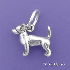 .925 Sterling Silver 3-D CHIHUAHUA Dog Charm Miniature - lp3538