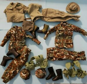 """1/6 Scale military for 12"""" inch female action figure uniform lot boots helmet"""