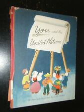 Inscribed You & the United Nations by Lois Fisher w/ Hand Drawn Cow Illustration