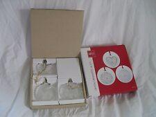 Crystal Christmas Ornaments Set of 3 Holiday Classics Mikasa