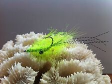 New listing Polar Flash Shrimp Fly Chartreuse 2 Flies size #2 Mustad 34007 Redfish Bonefish