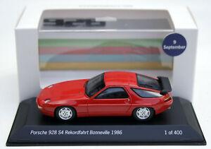 Porsche 928 S4 Rekordfahrt Bonneville 1986 Al Holbert, Spark-Mod. 1:43, 400 Pcs