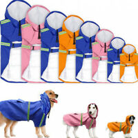 Dog Reflective Raincoat Pet Waterproof Lightweight Coat Rainday Hoodie Jacket US