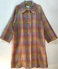Vintage Emily Wetherby Wool Plaid Long Trench Coat Size 14-16 AS IS ITEM