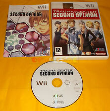 TRAUMA CENTER SECOND OPINION Nintendo Wii Vers Italiana 1ª Edizione ○ USATO - AI