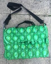 Original 1990s INFLATABLE Bubble Bag Messenger Style Y2K Vintage NEW Green