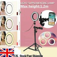 Fill-in Light Ring+Bluetooth Shutter Selfie Stick+Phone Holder+Tripod Lamp UK