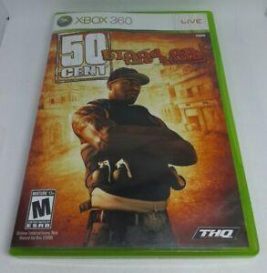50 Cent: Blood on the Sand (Microsoft Xbox 360, 2009) Complete w Manual CIB RARE