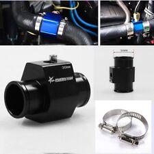 30mm Water Temp Temperature Joint Pipe Sensor Gauge Radiator Hose Adapter Black