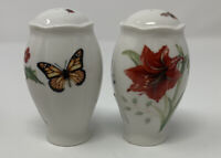 LENOX Holiday Butterfly Meadow Salt and Pepper Set New In Box ~RARE~