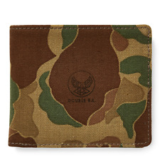 Ralph Lauren RRL Japanese Cotton Twill Camo Billfold Card Case Wallet New Canvas