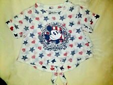 Disney Parks baby toddler Girls Mickey Mouse T-shirt Nwt Stars Hearts Stripes 2T
