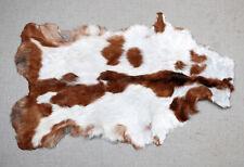"New Goat hide Rug Hair on Area Rug Size 32""x20"" Animal Leather Goat Skin U-3386"