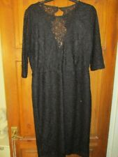 ❤️❤️ NEXT❤️❤️  BLACK LACE STRETCHY DRESS  DETAILED BACK  ❤️ UK SIZE 16❤️❤️