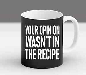 Your Opinion Wasn't In The Recipe Gift, Chef Gift, Foodie Gift, Foodie Gifts Cof