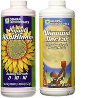 General Hydroponics Diamond Nectar and Liquid KoolBloom 1 Quart Set