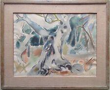 Édouard PIGNON 1905-93 Champ d'oliviers Aquarelle datée 53 Nouvelle Ec. de Paris