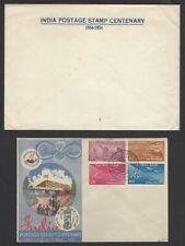 India 1954 Stamp Centenary FDC in original P&T envelope