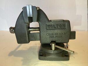 "Vintage Wilton 4"" Inch Tilting and Swivel Base Vise #121079"