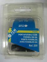 TLM Portafusibili con fusibili da 8A codice 220 - 2 pz pronta consegna nuovo