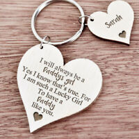 Personalised Daddy's Girl Keyring Gifts for Dad Daddy Father's Day Xmas Gift K45