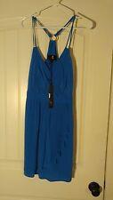 Akiko Pleated Dress Blueberry Blue Size S Retail $198 NWT