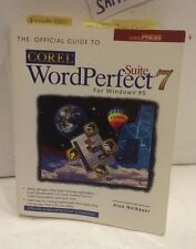 COREL WordPerfect 7 For Windows 95 official guide paperback book USED