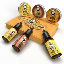 Beard 6 Pack Grooming Set, 3 x Beard Taming Balms & 3 x Beard Oils all natural