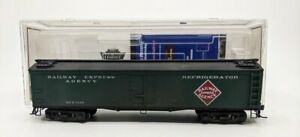 """Broadway Limited 1456 HO REX (REA) Weathered 53'6"""" Wood Express Reefer #1435 EX"""