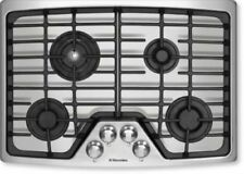 """Electrolux 30"""" 4 Sealed Burner Flex-2-Fit Stainless Steel Gas Cooktop EW30GC55GS"""