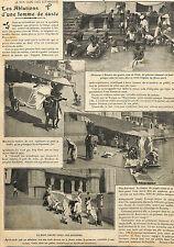 INDE INDIA VOYAGE ABLUTIONS FEMME DE CASTE BENARES ARTICLE PRESSE D' IZIER 1910