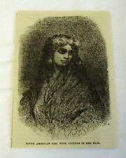 Klein 1882 Magazine Gravur ~ South American Girl mit cucuyos im Haar