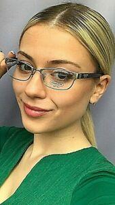 New COACH HC 3350 2791 53mm Cats Eye Silver Women's Eyeglasses Frame